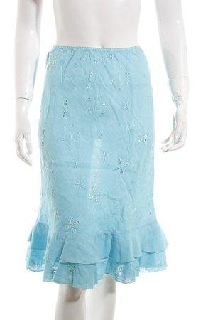 120% Lino Jupe asymétrique turquoise style décontracté