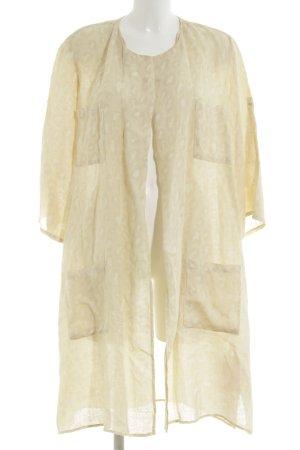 120% Lino Kimono Blouse gold-colored-primrose allover print casual look
