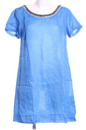 120% Lino Robe à manches courtes bleu style décontracté