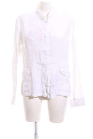 120% Lino Linen Blouse white business style