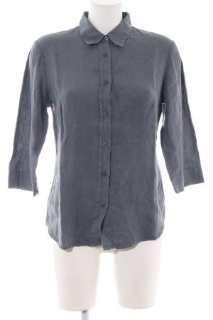 120% Lino Linen Blouse light grey business style