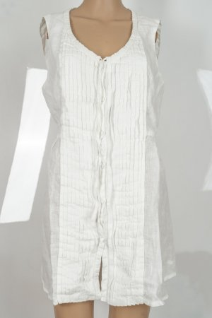 120% Lino Tunic Dress white linen