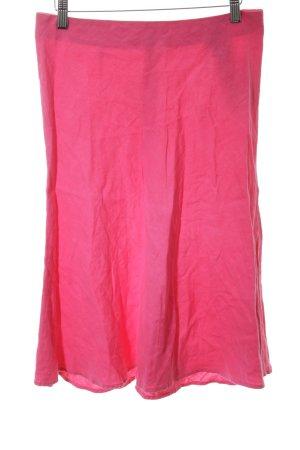 120% Lino Jupe en lin rose style simple