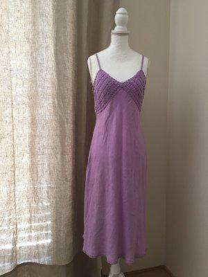 120% Lino Pinafore dress lilac linen