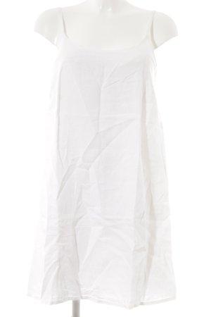 120% Lino Robe à bretelles blanc cassé style décontracté