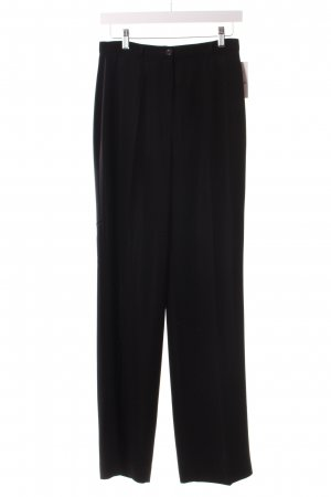 123 Pantalone a pieghe nero stile professionale