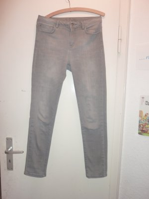 1.2.3 Paris High Waist Jeans grey angora wool
