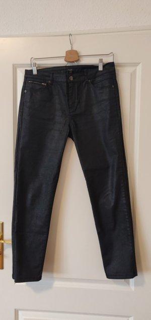 1.2.3 Paris Pantalon taille basse noir coton