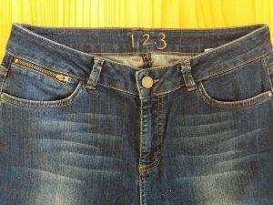 1.2.3 Paris Spijkerbroek donkerblauw-blauw Katoen