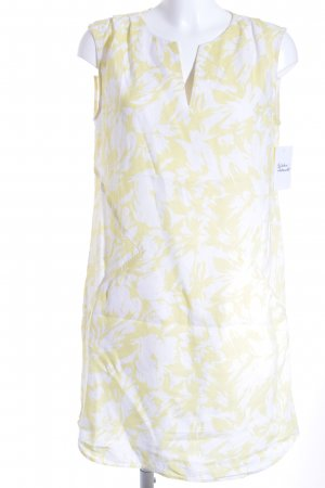 123 Paris Vestido playero blanco-amarillo estampado floral Estilo playero