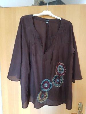 1.2.3 Paris Tunic Blouse dark brown silk