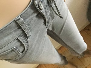 129€ RICH&ROYAL skinny super Slim Jeans Denim Hose grau hellgrau Röhrenjeans W25 34 36
