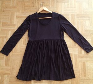 139€ Marc Aurel Plissee Kleid Tunika Shirt Longshirt Braun Dunkelbraun M L Vince