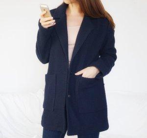 149€ Jacke marineblau dunkelblau Wolle Übergang Oversized S 36