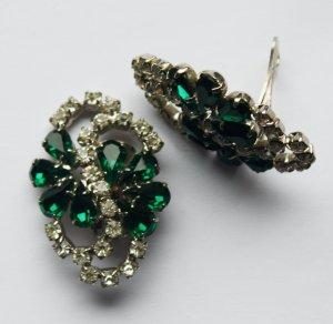 1601 Vintage  Kristall Ohrclips