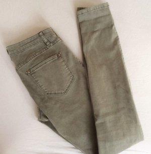 165€ Luxus Club Monaco Skinny Jeans Khaki grüngrau Hose 26 NEU