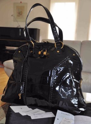 1690€ Orig. YSL Yves Saint Laurent MUSE XL Bag Handtasche Leder tasche Kroko Shopper