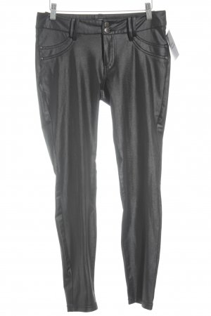 17&co Jeggings negro look efecto mojado