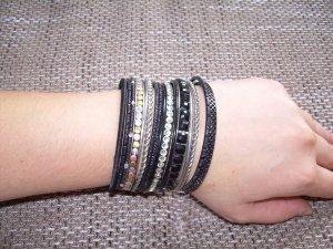 Bangle zwart-zilver