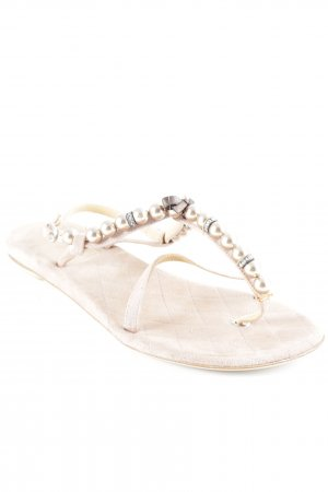 18 KT Toe-Post sandals nude-rose-gold-coloured elegant