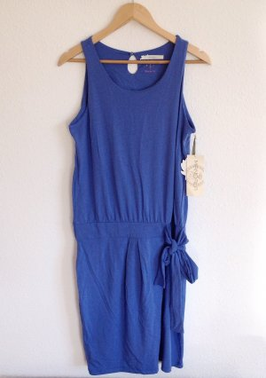 180€ Mandala Fashion Yoga Kleid in Indigo Strechkleid Midikleid Midi Bio Öko L M