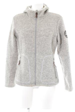 1803 Schratt Giacca di lana grigio-grigio chiaro puntinato stile casual