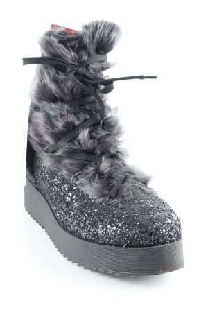 181 Ankle Boots schwarz-grau extravaganter Stil