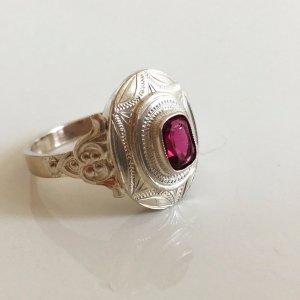 1900 Antik Jugendstil 900er Silberring Pink Turmalin
