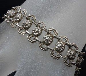 1910-1920er Jahre antik Jugendstil Art Deco Armband 835er Silber Gliederarmband Muster