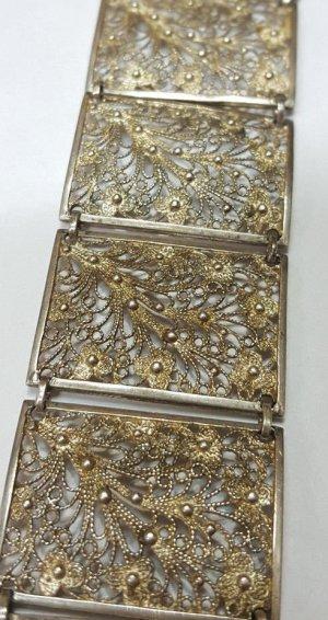 1910-1920er Jahre antik Jugendstil Art Deco Armband Silber floral Design Silberarmband Blumen Blüten
