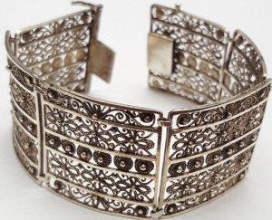 1920 Antik Jugendstil Silberarmband 835er Silber Armband Art deco
