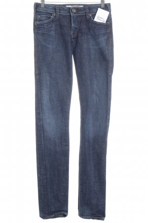 1921 Skinny Jeans stahlblau Used-Optik