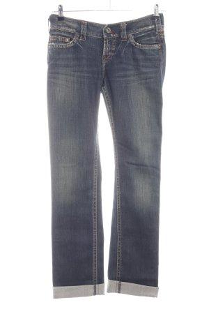 1921 Jeans coupe-droite bleu style décontracté