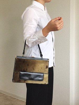 1950's 1960's Vintage Kalbfell Tasche Made in Norway von Jo-Po