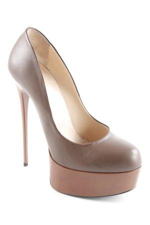 1969 High Heels schwarzbraun-braun Elegant
