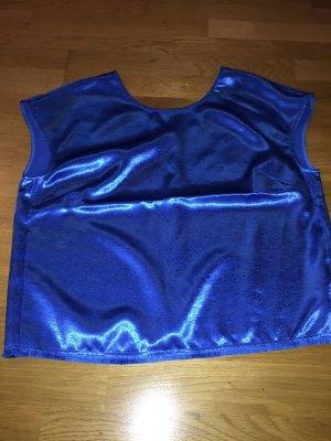 1971 Reiss Mouwloze blouse staalblauw