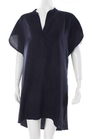 1975 Blusenkleid dunkelblau schlichter Stil