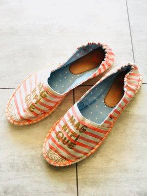 Espadrille Sandals natural white-light orange cotton