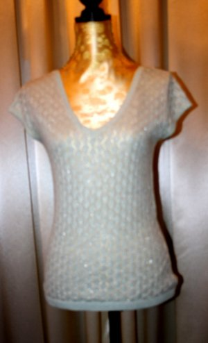 H&M Knitted Top baby blue