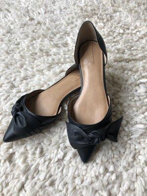 Aldo Ballerina's met kant zwart Leer