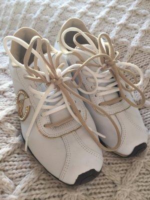 Baby Phat Lace-Up Sneaker white-gold-colored
