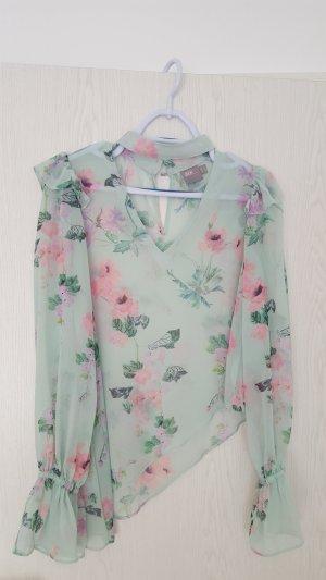 1xgetragen fließende Bluse von Asos Blumenmuster Volant Gr. XS