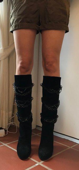 1xmal getragene, Boss Orange Damen Stiefel aus Sample Sale New York Gr. 38,schwarz