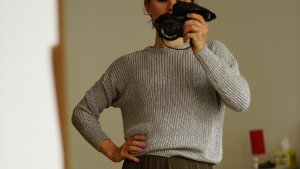 2 American Apparel Fisherman Sweaters / silber / bronze