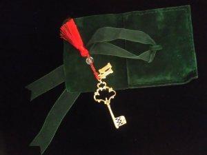 2 Anhänger : Schlüssel und Nummer 11 - Handarbeit - Echtsilber 925