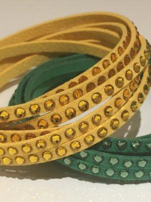 Bracelet green-yellow mixture fibre