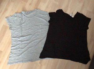 Zara T-shirt zwart-grijs