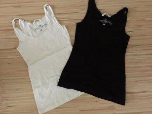 H&M Haut basique blanc-noir