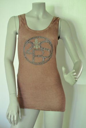 2 Blue Sisters Long Top Shirt mit Nieten Baumwolle altrosa Gr. 38 – UNGETRAGEN
