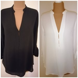 Zara Blouse black-cream